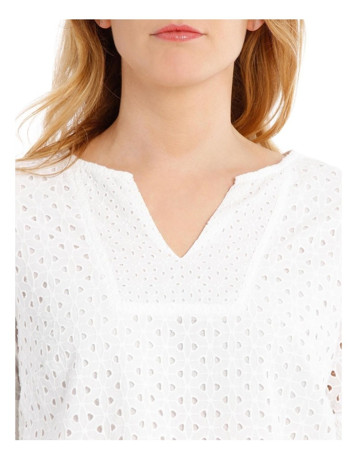 Short Sleeve Broderie Top image 4