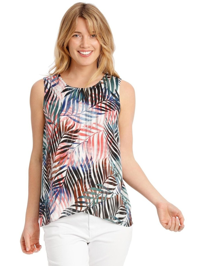 Sleeveless Curved Front Double Layer Top image 1