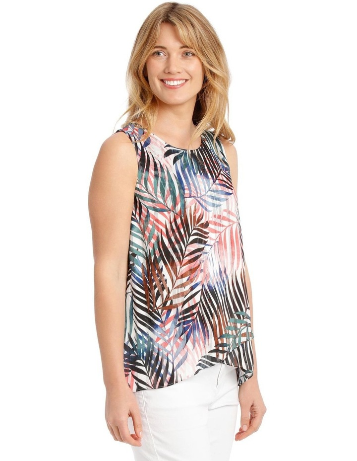 Sleeveless Curved Front Double Layer Top image 2