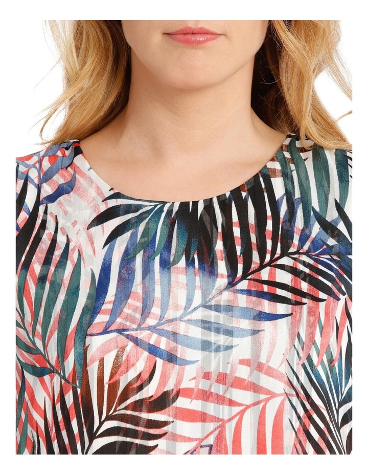 Sleeveless Curved Front Double Layer Top image 4