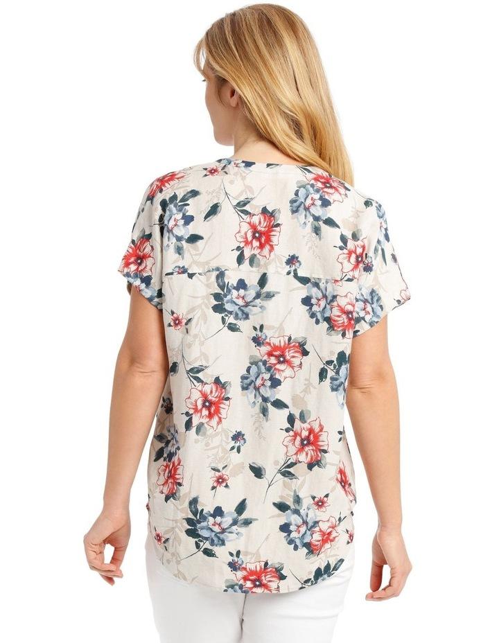 Mandarin Collar Extended Shoulder Top image 3