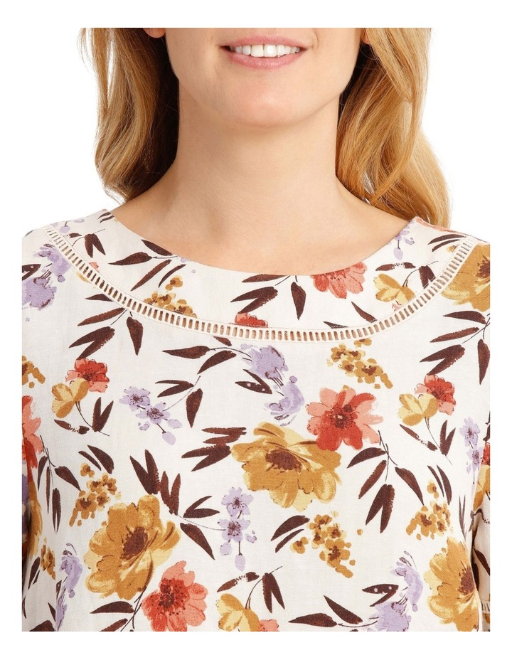 Short Sleeve Shell Top With Ladderlace Trim image 4