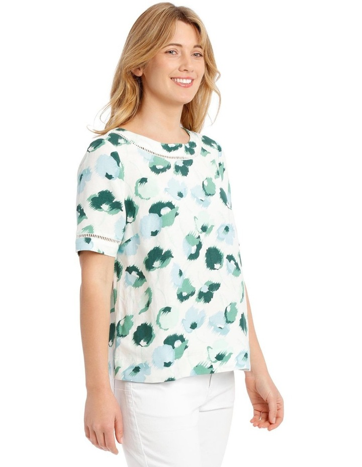 Short Sleeve Shell Top With Ladderlace Trim image 2