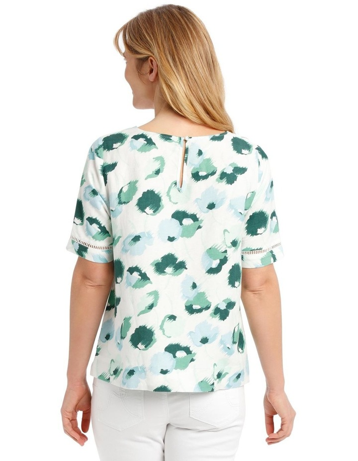 Short Sleeve Shell Top With Ladderlace Trim image 3