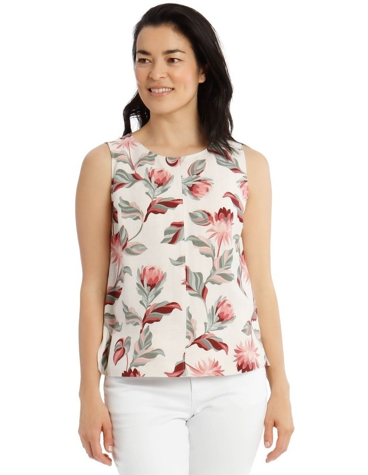 Sleeveless Shell Top With Deep Hems image 1