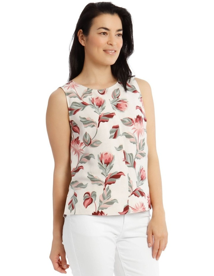 Sleeveless Shell Top With Deep Hems image 2