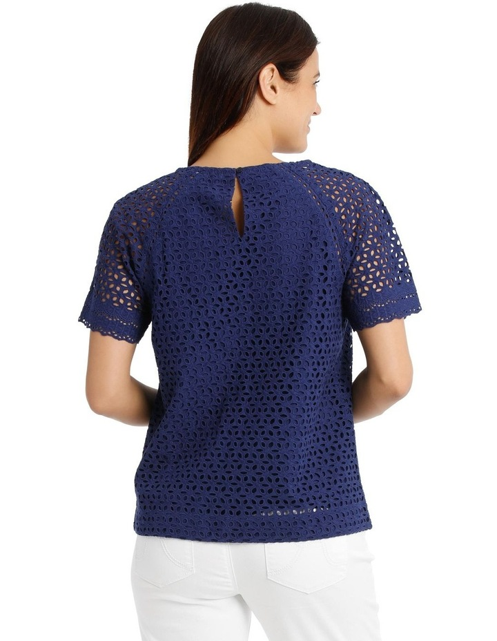 Short Sleeve Broderie Top With Yoke image 3