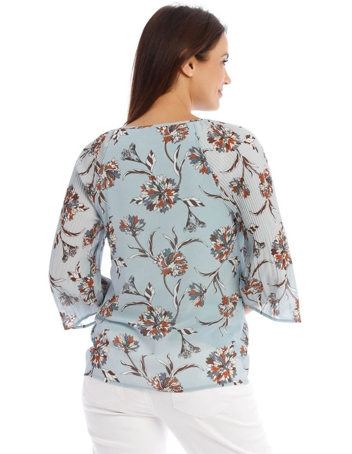 Plisse Double Layer 3/4 Sleeve Top image 3