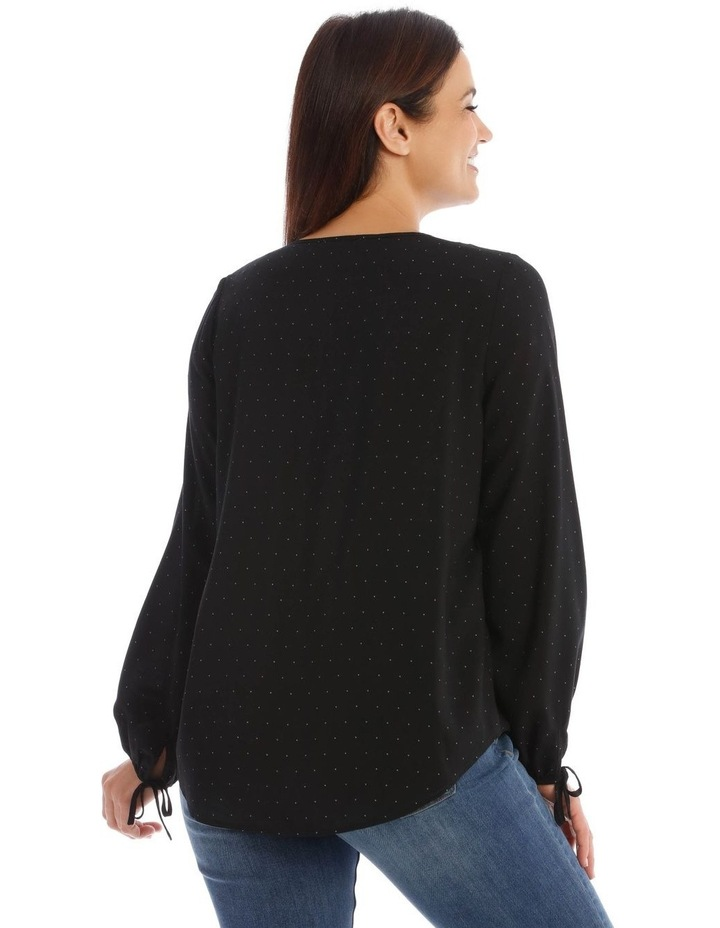 Dobby Pintuck Front Long Sleeve Soft Top image 3