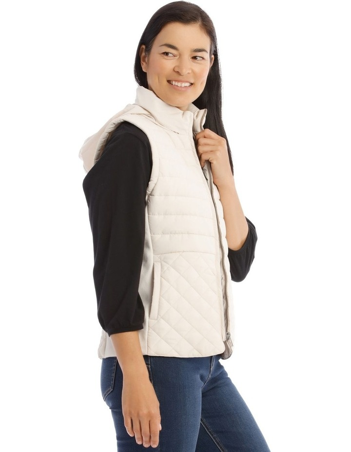 Quilted Rib Side Vest With Hood image 2