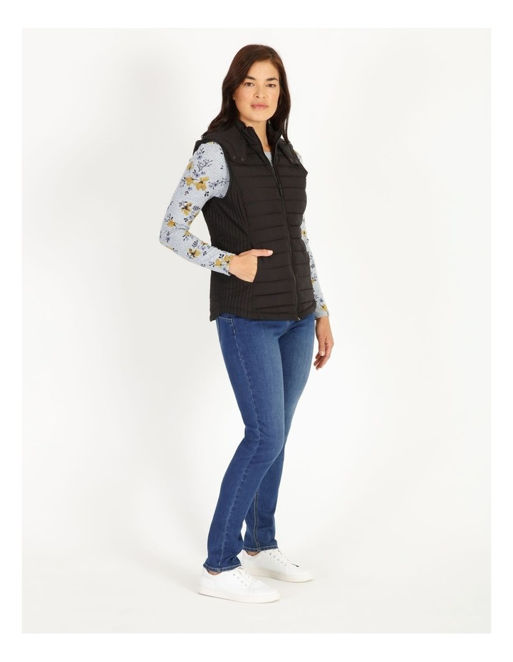 Olive Grove Straight Quilted Vest With Removable Hood image 2