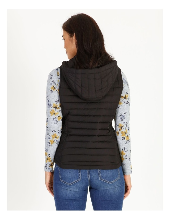Olive Grove Straight Quilted Vest With Removable Hood image 3