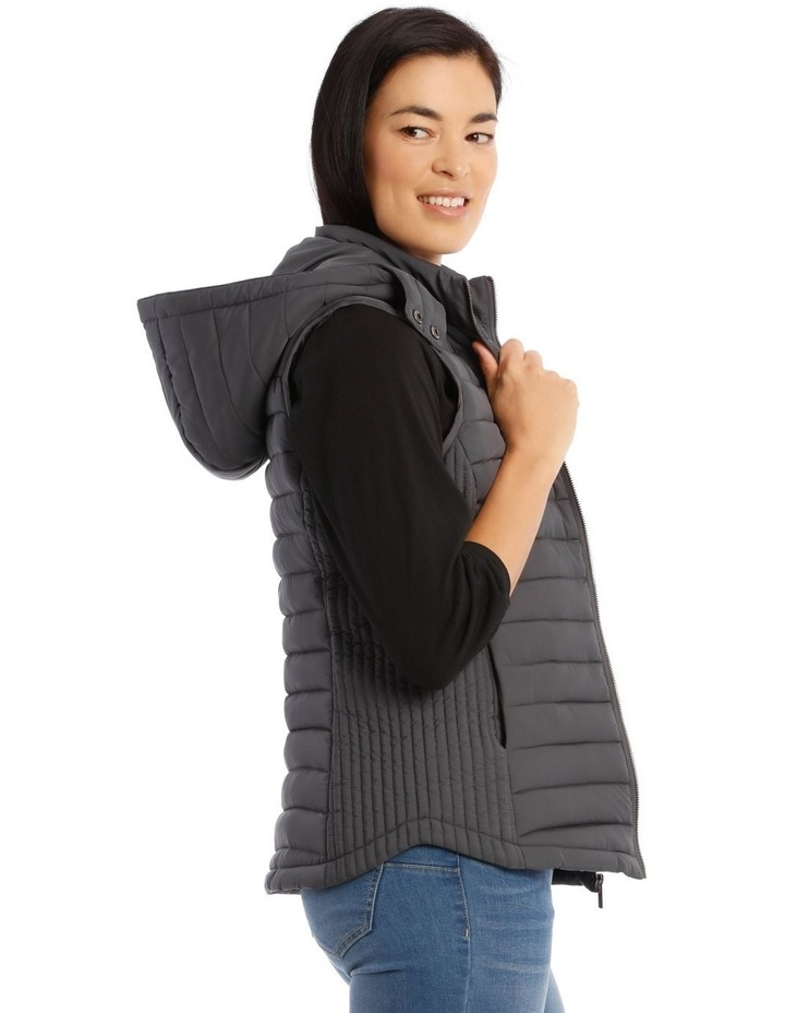 Kindled Straight Quilted Vest With Removable Hood image 2
