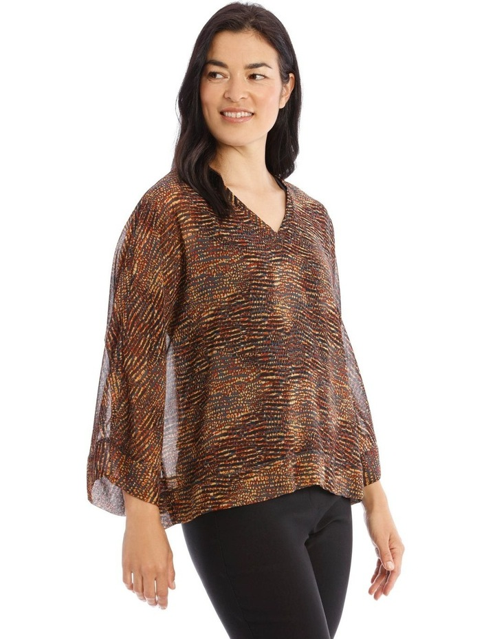 V-Neck Sheer Top With Lining image 2