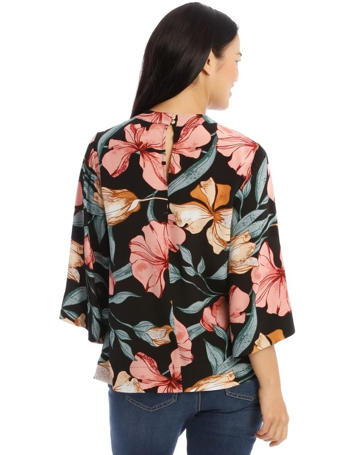 Cape Sleeve High Neck Top image 3