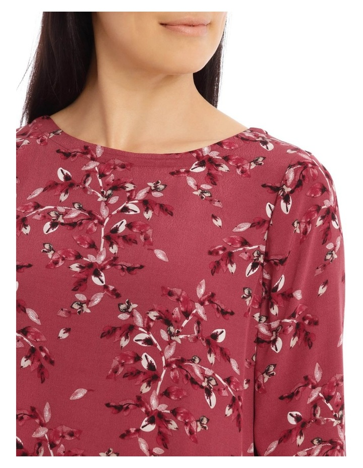 3/4 Sleeve Top With Sheer Panel In Sleeve image 4