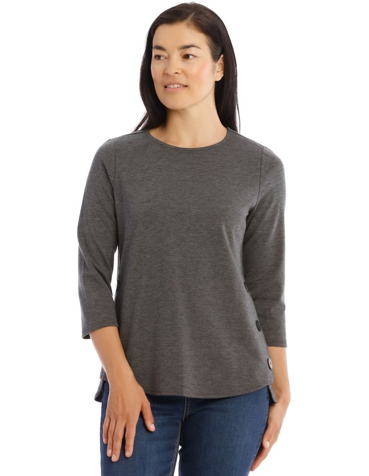 Button Side 3/4 Sleeve Tunic image 1