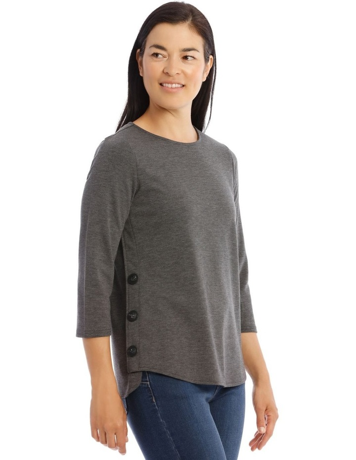 Button Side 3/4 Sleeve Tunic image 2