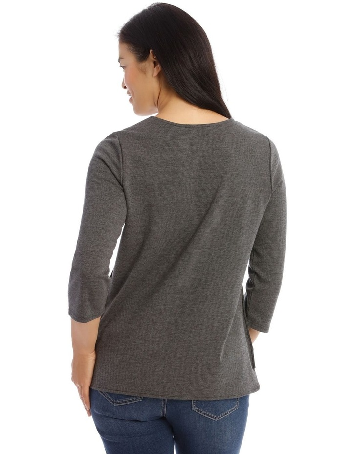 Button Side 3/4 Sleeve Tunic image 3