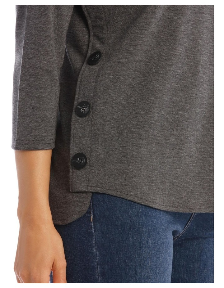 Button Side 3/4 Sleeve Tunic image 4