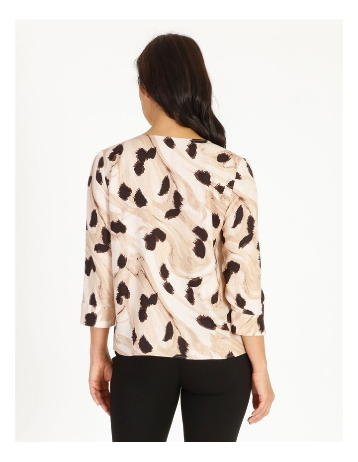 Burnished Button Front Top With 3/4 Sleeve image 3