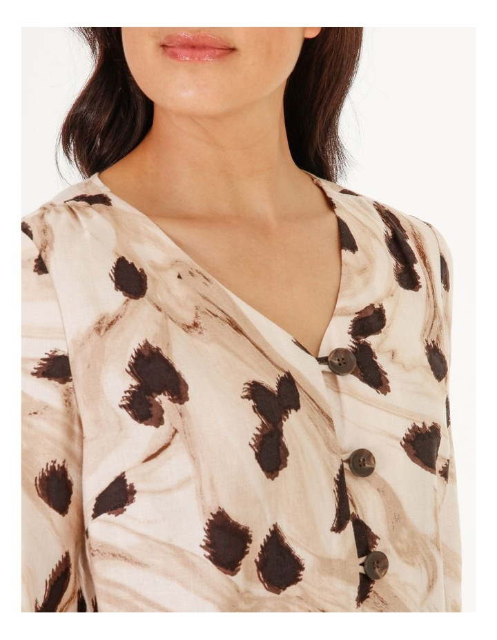 Burnished Button Front Top With 3/4 Sleeve image 4