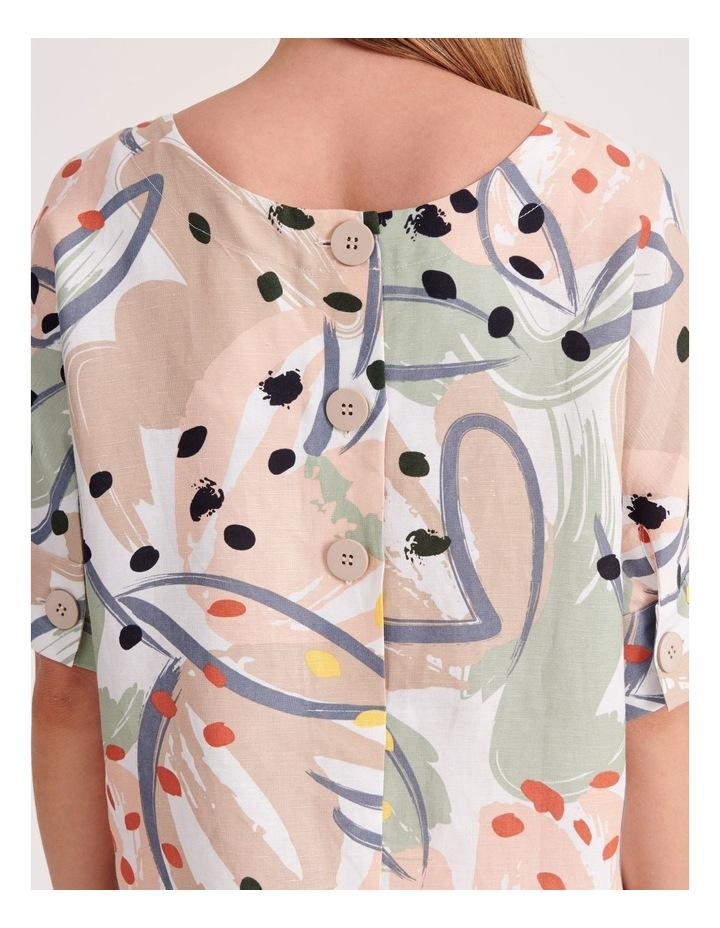 Short Sleeve Linen Blend Top image 5