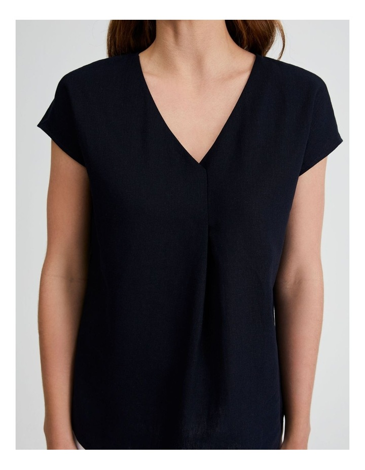 Extended Short Sleeve Linen Top image 5