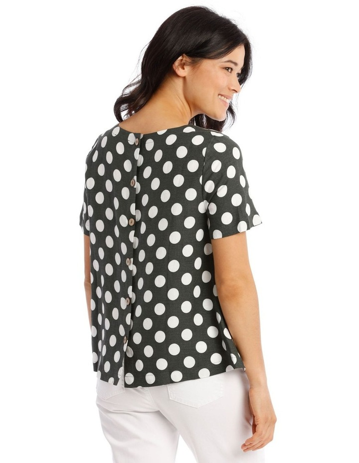 Short Sleeves A-Line Top With Button Back image 3