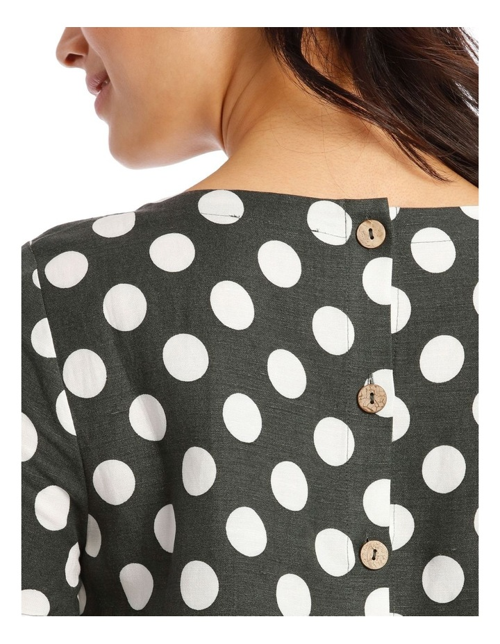 Short Sleeves A-Line Top With Button Back image 4