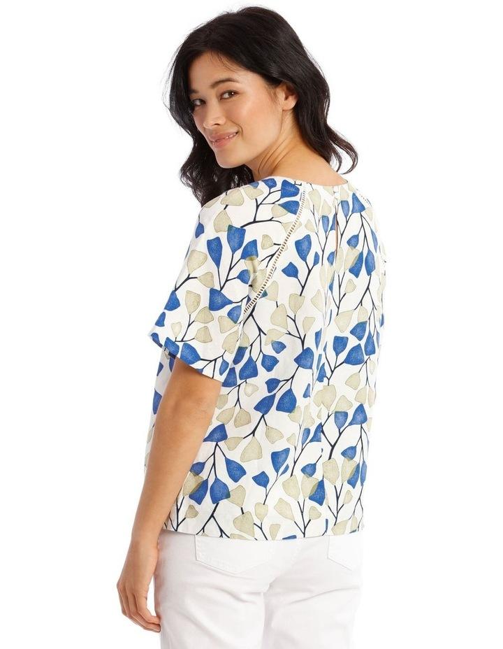 Flutter Short Sleeve Top With Ladder Lace Trim image 3