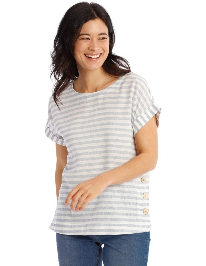 Short Sleeve Top With Button Sides image 1