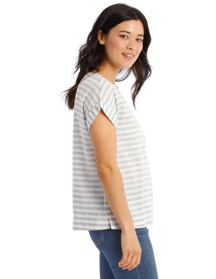 Short Sleeve Top With Button Sides image 2