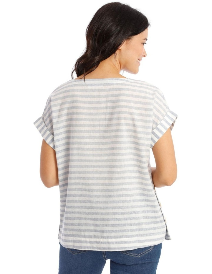 Short Sleeve Top With Button Sides image 3