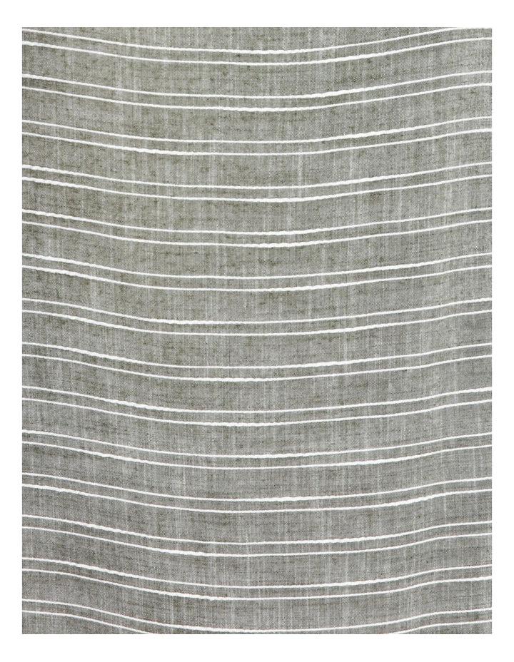 Square Neck 3/4 Gathered Sleeve Vertical Yarndye Stripe Top image 5