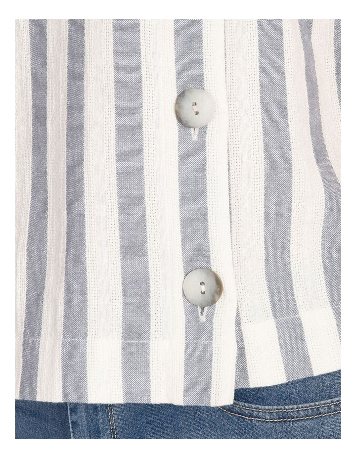 Ochre Dawn Button Side Short Sleeve Top image 4