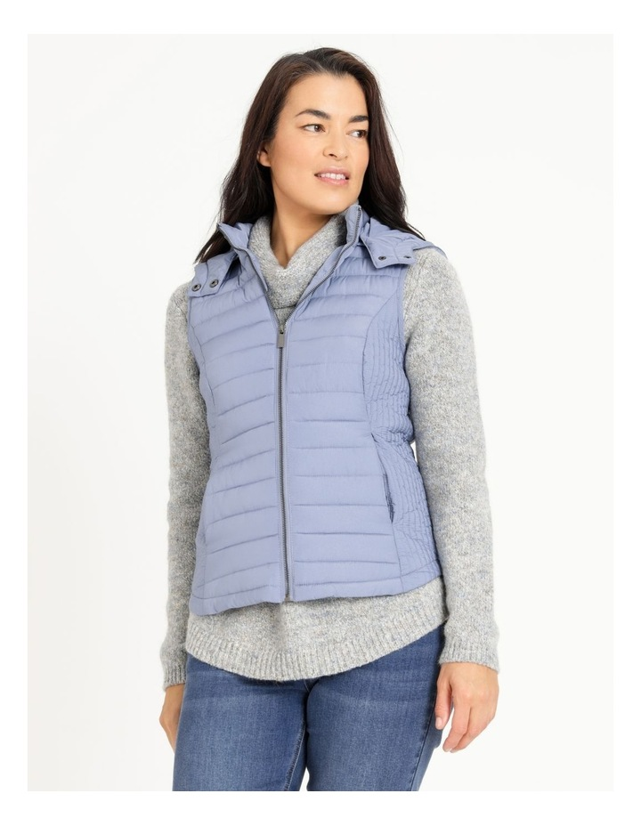 Olive Grove Straight Quilted Vest With Removable Hood image 4