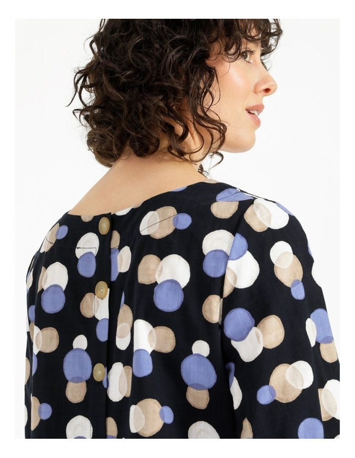 Gathered Cuff Top With Curved Hem image 5