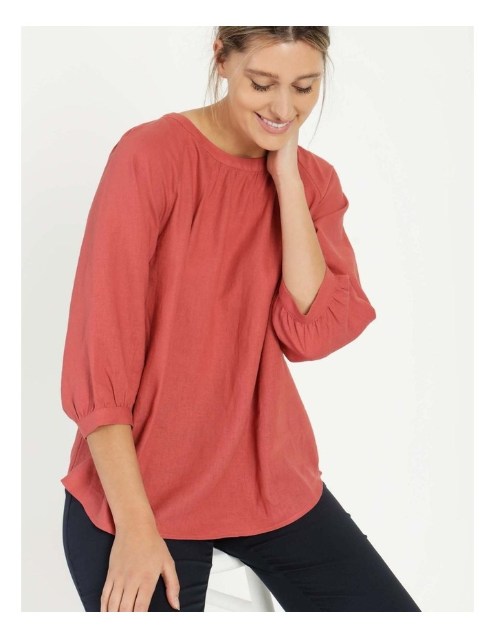 Gathered Neck Top Pink image 1