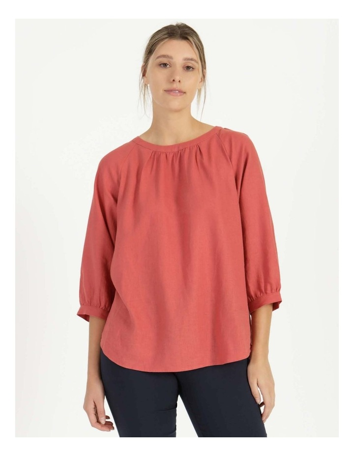 Gathered Neck Top Pink image 4