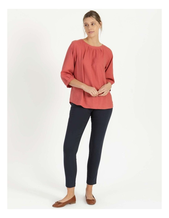 Gathered Neck Top Pink image 5