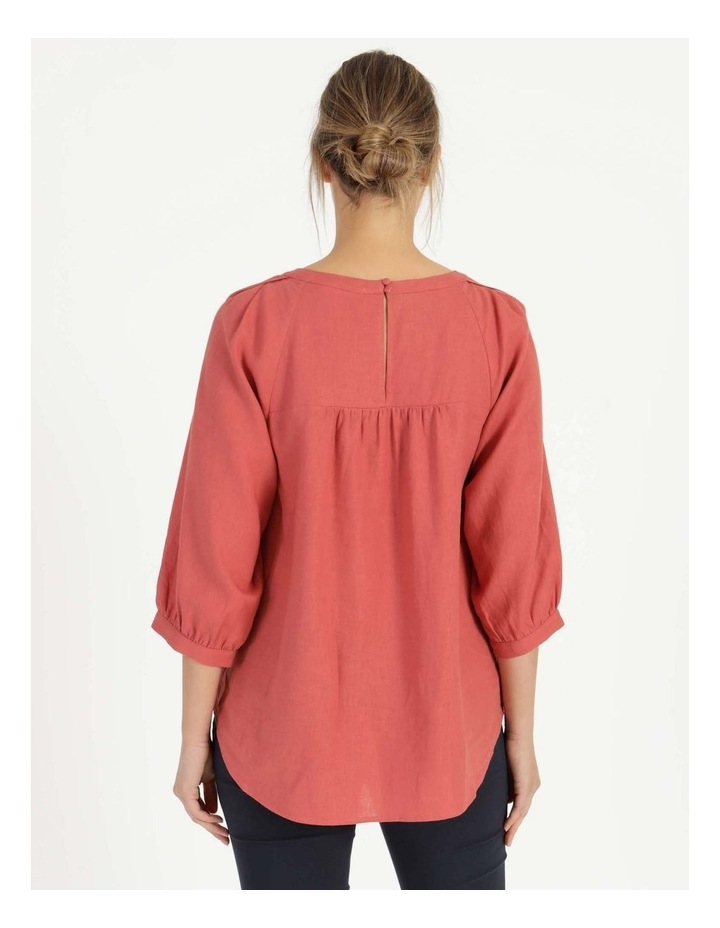 Gathered Neck Top Pink image 6