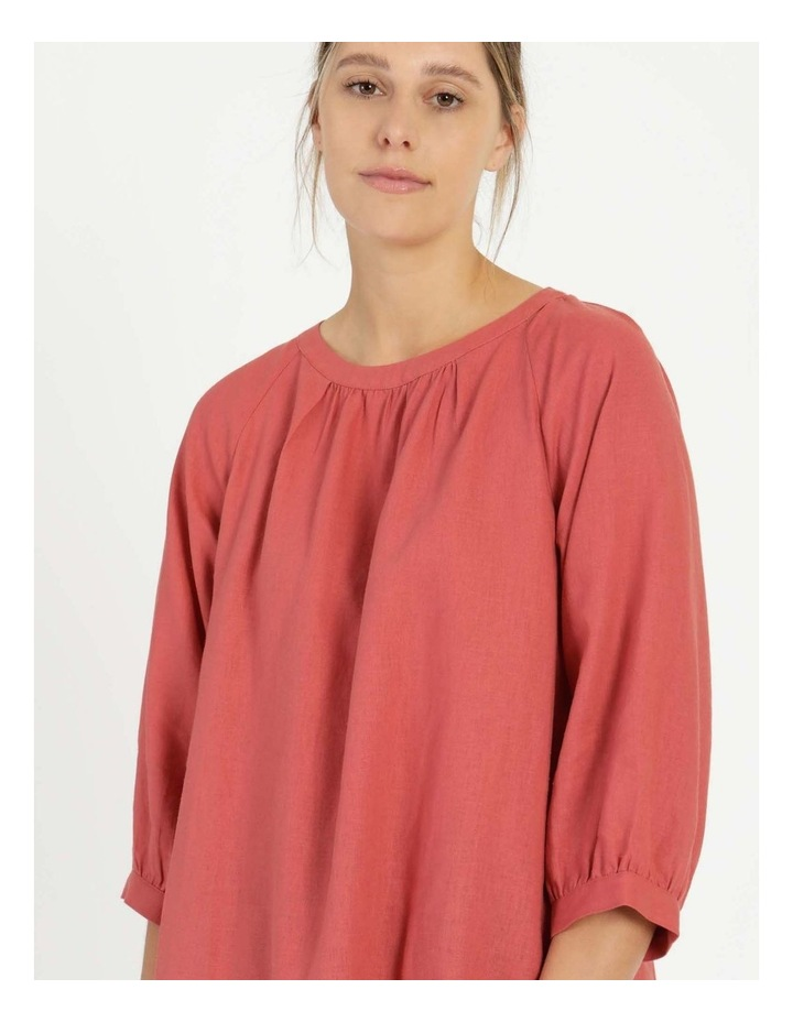 Gathered Neck Top Pink image 7