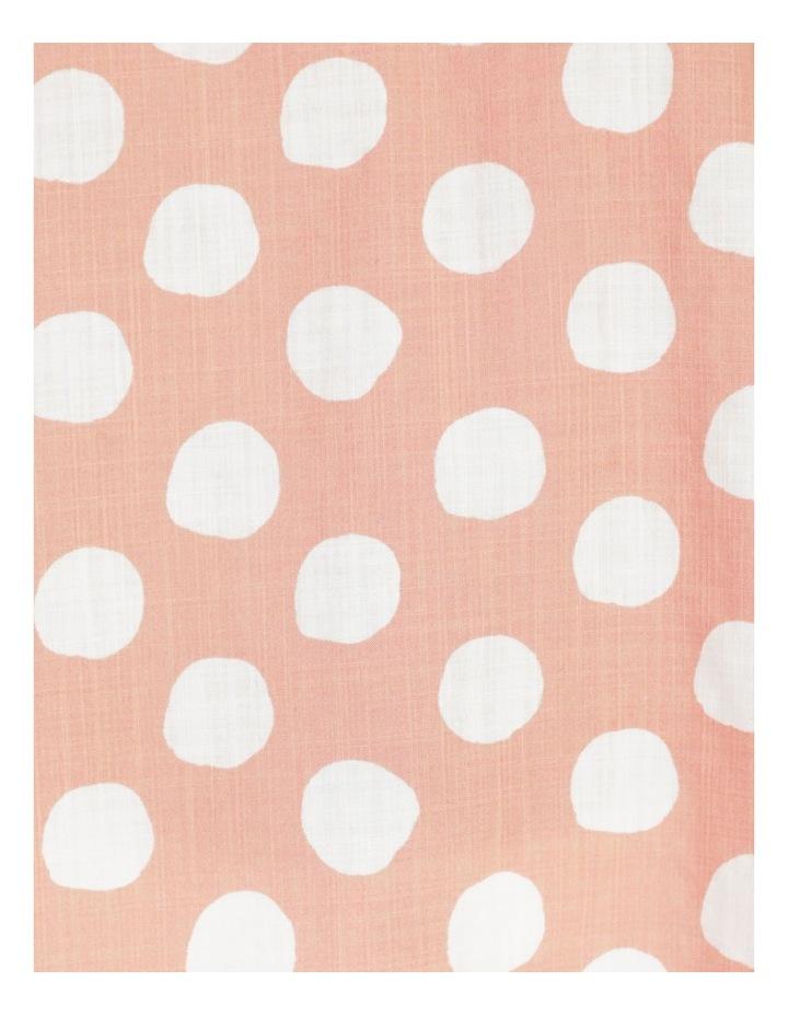 Spot Rolled Sleeve Raglan Top Pink/Ivory image 7