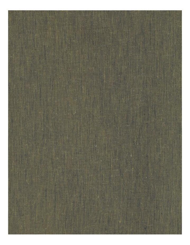 Fluted Short Sleeve Top Khaki/Navy Cross Dye image 7