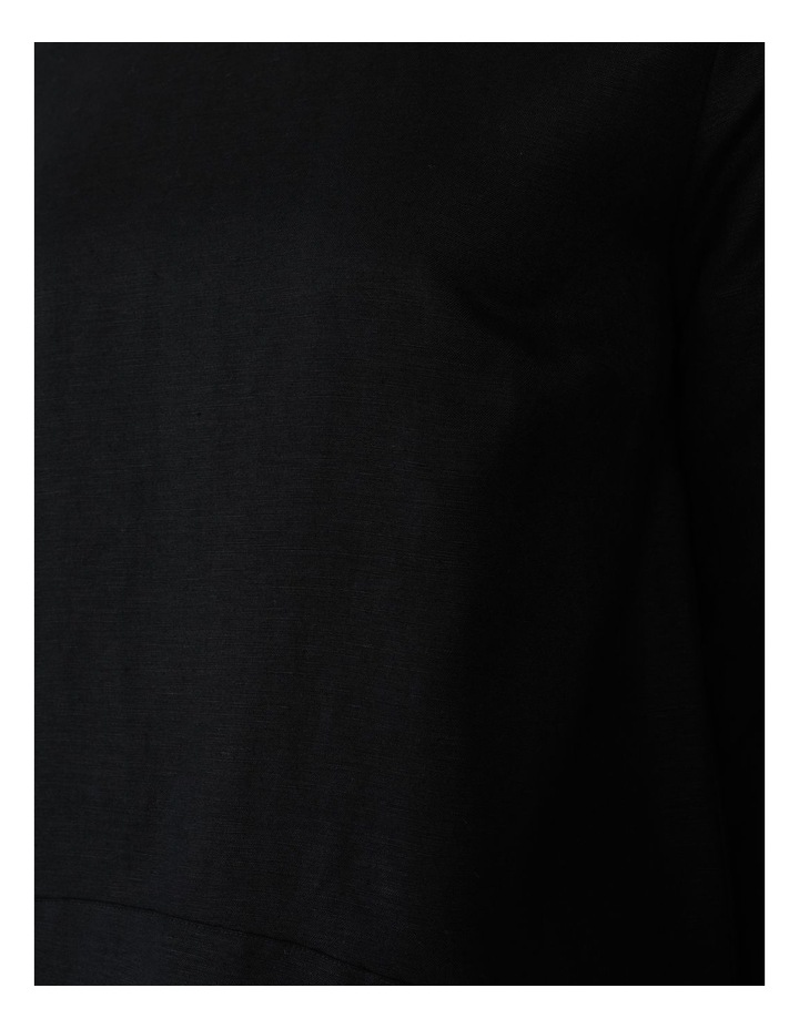 3/4 Button Sleeve Top Black image 7