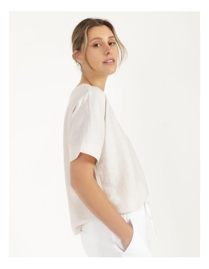 Short Magyar Sleeve Wide Hem And Side Splits Top Neutral Cross Dye image 1