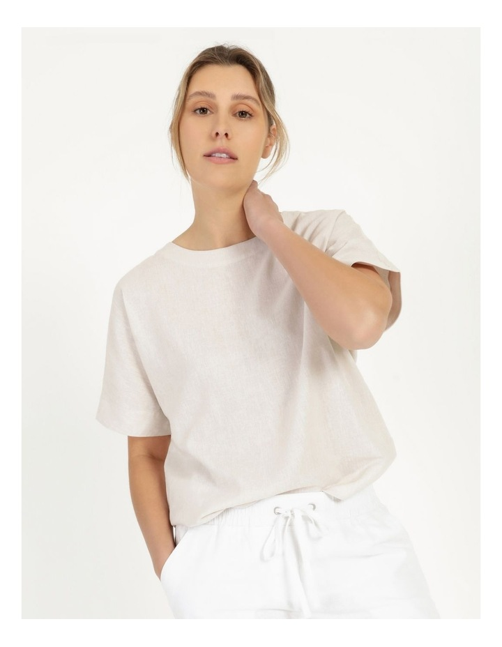Short Magyar Sleeve Wide Hem And Side Splits Top Neutral Cross Dye image 6