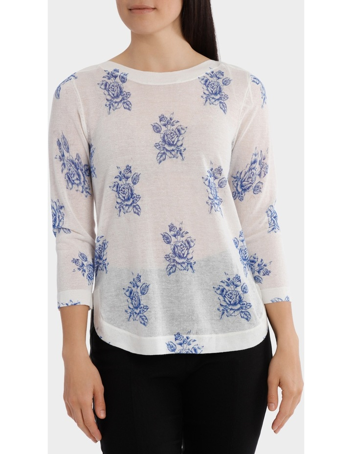 Floral Bunch Lightweight 3/4 Sleeve Jumper image 1