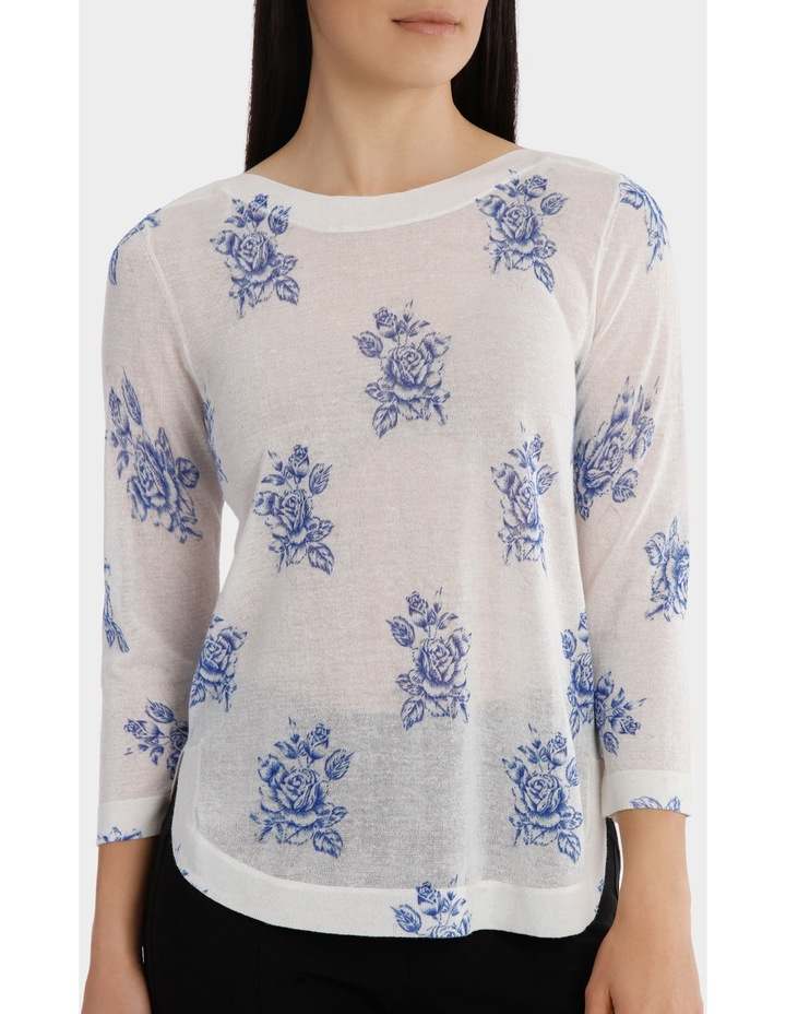 Floral Bunch Lightweight 3/4 Sleeve Jumper image 4